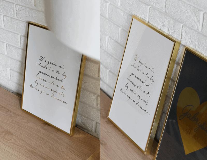 złote plakaty inspiracje