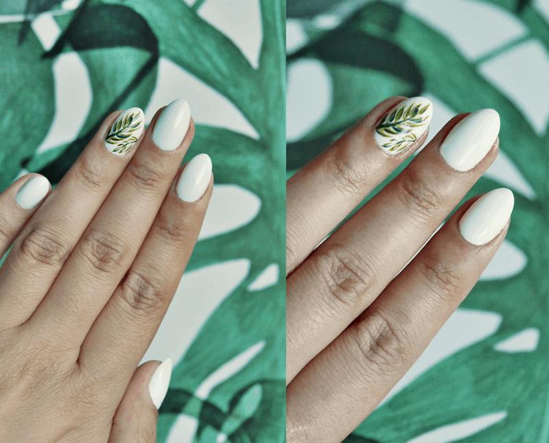 liście manicure semilac