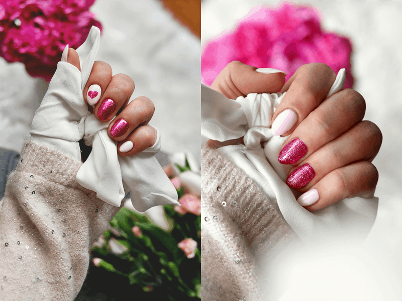 Malinowe Love Musujący Różowy Manicure Na Walentynki