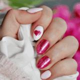 Malinowe love: manicure na walentynki w różu